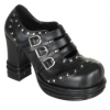VAMPIRE-08 Black Faux Leather